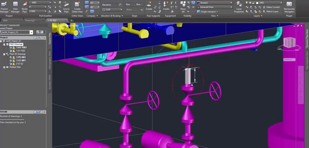 AUTODESK AutoCAD Plant 3D 特色