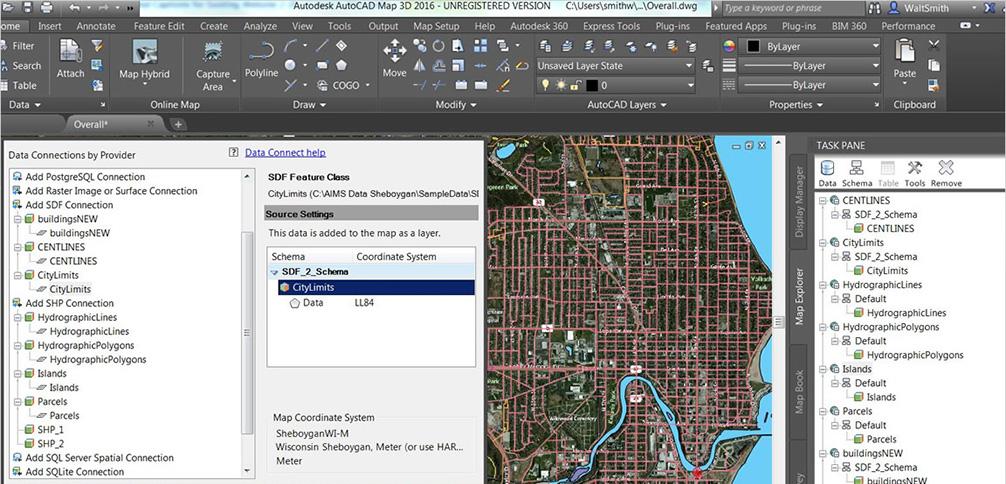 AUTODESK AutoCAD MAP 3D 功能