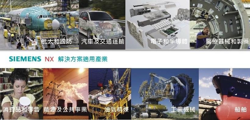 NX 適用的產業類別